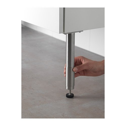 Ikea Legs round stainless steel pack of 2