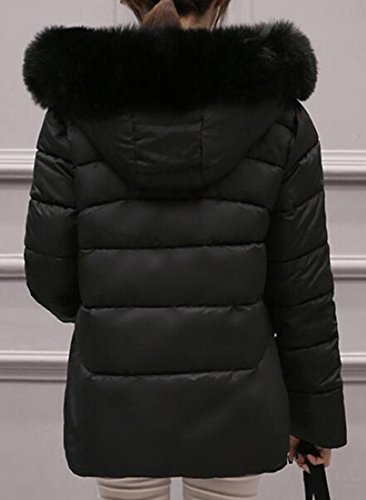 Fur Faux Black Down Jacket Hooded UK Short Puffer Coat Womens Winter today cHaAUW