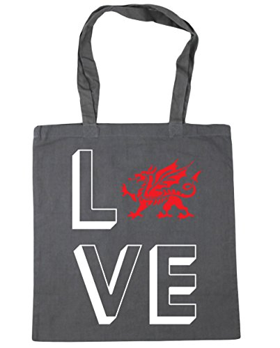 Graphite Tote Love Shopping Gym Beach Grey Wales litres 10 42cm HippoWarehouse Bag x38cm qPEwdaq