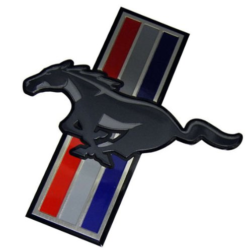 Running Pony Horse Mustang Medallion Aluminum Emblem Badge Nameplate Decal Logo Rare for - Horse Emblem