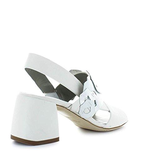 Ixos Damer Sko Hvid Læder Sandal Med Dekorationer Forår-sommer 2018 NFkWH1jzm5