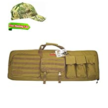 """Explorer 42"""" Padded Rifle Tactical Carrying Case Gun Bag Military Backpack Weapon Case YKK Zippers PAT3 R42 42 inch Tan"""