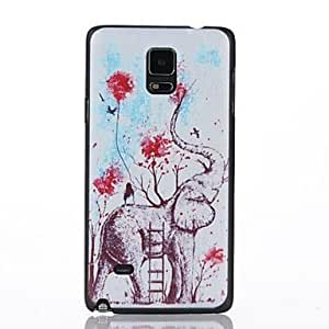 WEV Oil Painting Pattern Plastic Cover for Samsung GALAXY NOTE4