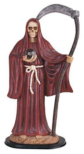 24 Inch Red Santa Muerte Saint Death Grim Reaper Statue Figurine