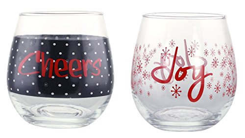 KOVOT-Holiday-CHEERS-and-JOY-Stemless-Wine-Glass-Set-of-2-16-oz