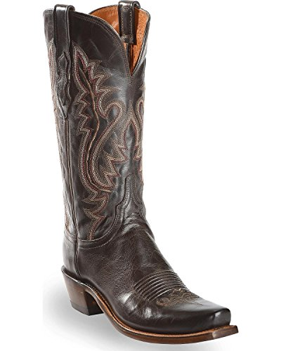 (Lucchese Women's Handmade 1883 Cassidy Cowgirl Boot Narrow Square Toe Chocolate 9 M US)