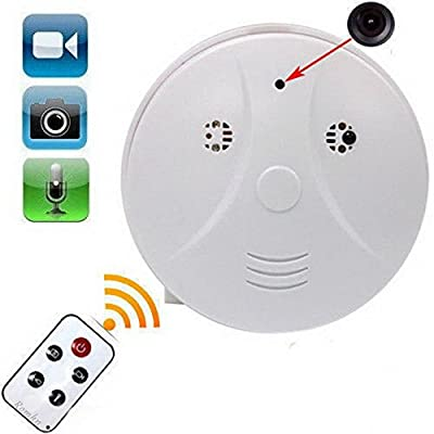 Romhn 8GB Hidden Camera Smoke Detector Motion Detection Activated Audio Recording Digital Video Recorder Mini DV Camcorder