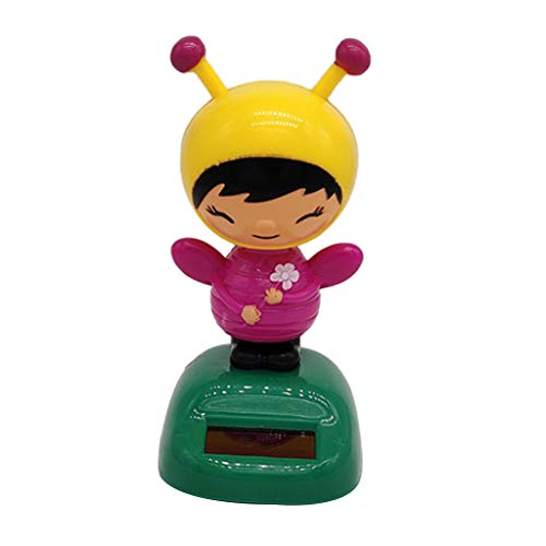 (Fityle Dancing Bee Girl Figure Model - Solar Power Model Doll Figurine Statue Kid Educational Science Toy Gift Home Decor)