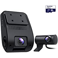 VETOMILE V3 Dual Dash Cam Ultra HD 1440P Front & 1080P Rear 170 Degree Wide Angle Dual Lens Dashboard Camera with 16GB card included