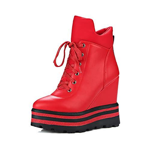 femme Dku02630 compensées rouges Sandales pour An ZIOHwH
