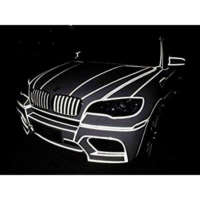 """fangfei 0.4"""" X148' Car Reflective Body Rim Funny DIY Stickers Warning Safety Auto Motorcycle Bike Decal Body Cover Decoration Strip(White): Automotive"""