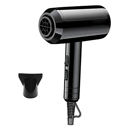 YINGENG Electric Hair Dryer, Safe Constant Temperature Hair Care, High Power Hair Dryer, Five-Speed Adjustment Cold and Warm Air Blower,Black