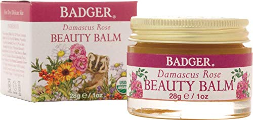 Badger Damascus Rose Beauty Balm - 1 oz Glass Jar ()