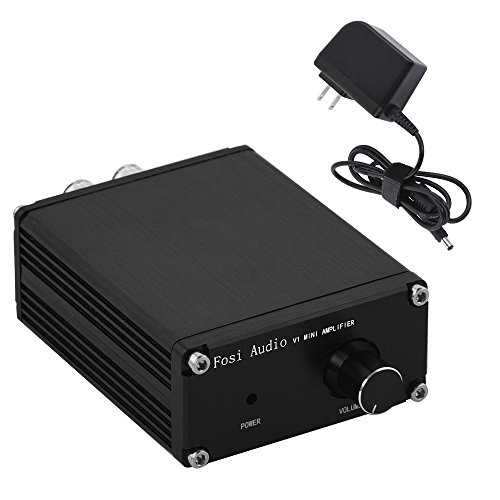 Fosi Audio 2 Channel Stereo Audio Hi-Fi Amplifier Receiver Small Mini Class d Digital Amp for Home Car Speakers with Power Supply TPA3116 50Watt(V1 Without Bluetooth)
