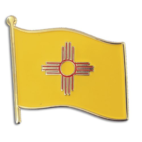 PinMart New Mexico US State Flag NM Enamel Lapel Pin 1""