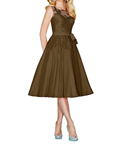 marrón trapecio Vestido mujer para Topkleider CqgXYwq