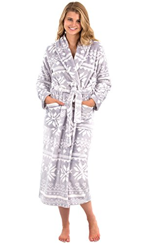 631f725d6e VEAMI Women s Aspen Fleece Robe