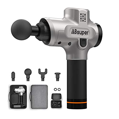 Awesome Muscle Massager Massage Gun, ABsuper Upgraded Percussion Massager, Deep Tissue Massager with Four Different Heads for Different Muscle Groups, Cordless Handheld Massager for Muscles, Neck, Back, Leg, Shoulder, Hand 2019