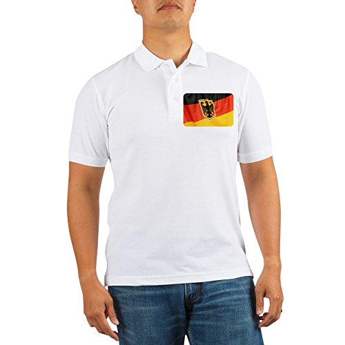 Royal Lion Golf Shirt German Flag Waving - Large ()