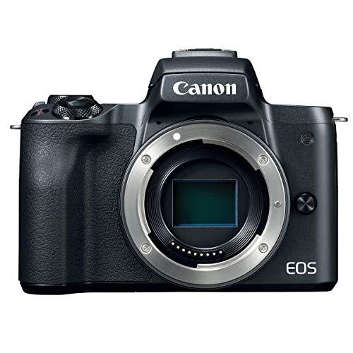 Canon EOS M50 Mirrorless Camera Video Creator Kit w/EF-M 15-45mm Lens, Black, Bundle with Rode VideoMic GO + Cam Bag…