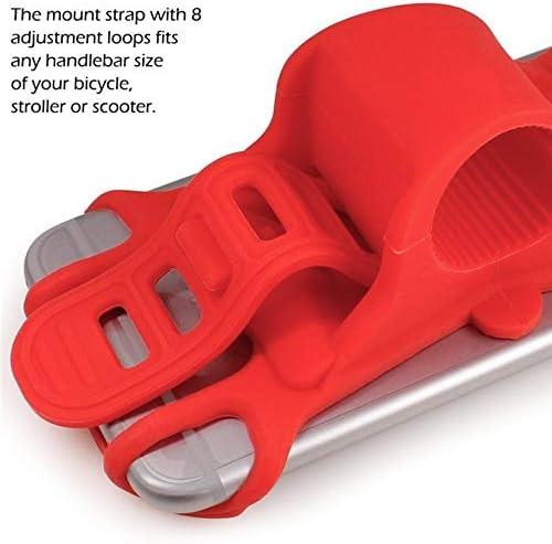 Rui Peng 携帯電話スタンド - スマートフォン用自転車ハンドルバーマウントホルダー携帯電話ホルダーシリコンサポートブラケットアクセサリー (色 : 赤)