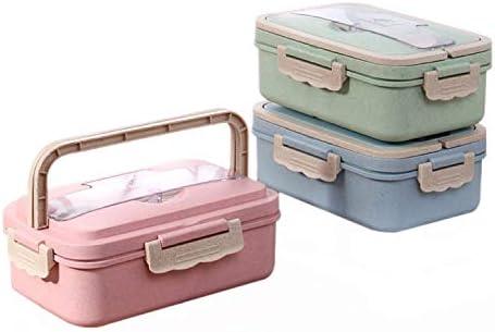 Weizenstroh Brotdose 900mlmit F/ächern Bento Box Federleicht Auslaufsicher Lunchbox f/ür Kinder /& Erwachsene BPA /& plastikfrei