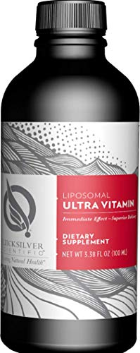 Quicksilver Scientific Liposomal Ultra Vitamin - Liquid Multivitamin with Active B Vitamins, 2500 IU Vitamin D3 + Antioxidants (3.38oz / 100ml)