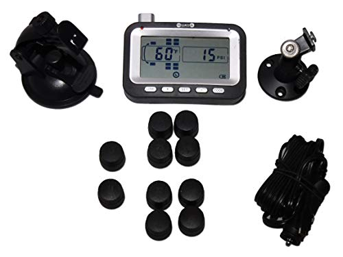 (BELLACORP Tire Pressure Monitoring System TPMS 10TR Sensors for Tractor Truck, Big Rig, 18 Wheeler Cab, or Dual Rear Axle RV)