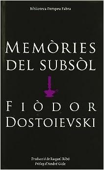 Book MEMÒRIES DEL SUBSOL