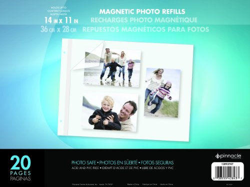 Pinnacle Frame 11 by 14-Inch Magnetic Refillable Photo Album, ()