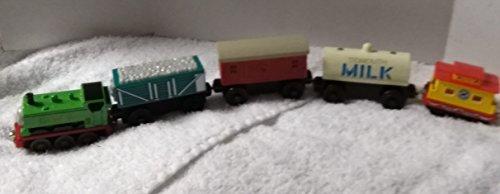 Gulllian 5 Piece Thomas Trains-Duck Engine, Rickety, Baggage Car, Tidmouth Milk Car, Grand Opening Caboose