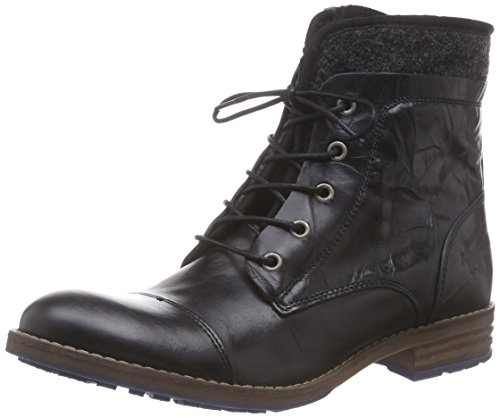 Short Black 9 Schwarz Schnür Donna bottino Schwarz Classics Warm Mustang Boots Lining 8E6nH