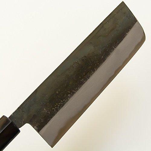 Nakiri Hocho (Kithcen Knife for Vegetables) 165mm, Kurouchi, Blade Edge : Shirogami Steel, Double Bevel