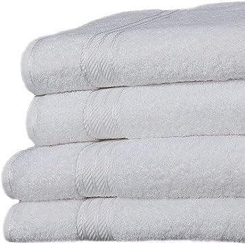 500 g//m/² Linens Limited Set de 6 serviettes dh/ôtel SUPREME en coton /égyptien blanc