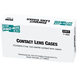 Pac-Kit by First Aid Only 7-402 Industrial Contact Lens Case (Box of 2)