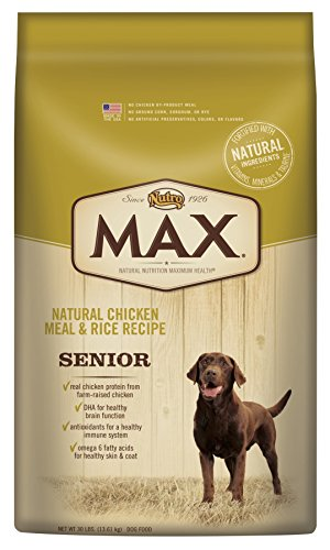 Nutro Max Senior Dog Food, Natural Chicken Meal And Rice 30 Lbs. Review
