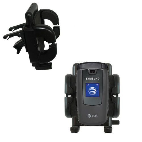 A437 Phone (Innovative Vent Cradle Vehicle Mount designed for the Samsung SGH-A437 - Adjustable Vent Clip Holder for Most Car / Auto Vent Systems)