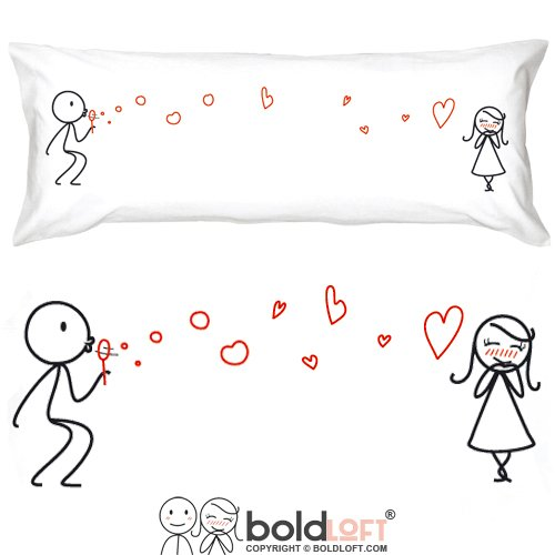BOLDLOFT From My Heart to Yours Body Pillow Cover- Girlfriend Gifts, Gifts from Boyfriend, Wife Gifts, 2 Year Anniversary Gifts, Romantic Gifts for Her, Cotton Gifts for Her