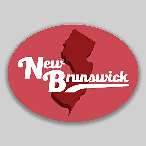 - JMM Industries New Brunswick New Jersey Vinyl Decal Sticker Car Window Bumper 2-Pack 4.5-Inches by 3.5-Inches Premium Quality UV-Protective Laminate PDS1681
