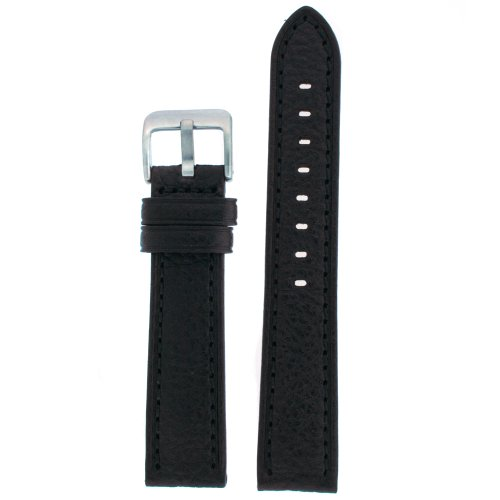 Watch Band Black Genuine Leather 22 millimeter Tech Swiss by Tech Swiss