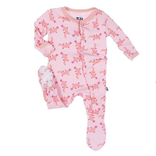 KicKee Pants Little Girls Footie- Lotus Platypus, 0-3 Months by Kickee Pants