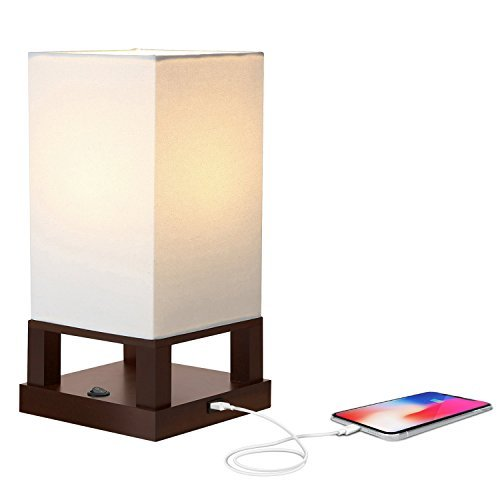 great bedside lamps wall mounted brightech maxwell led usb side table desk lamp modern asian style with wood frame soft ambient lighting perfect for living room bedside best rated in lamps helpful customer reviews amazoncom