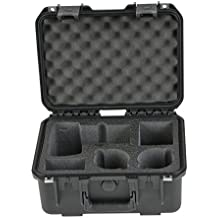 SKB Cases 3I-13096SLR1 SKB iSeries Camera Cases for DSLR with Attached Lens, Lens Pockets and Accessories (Black)