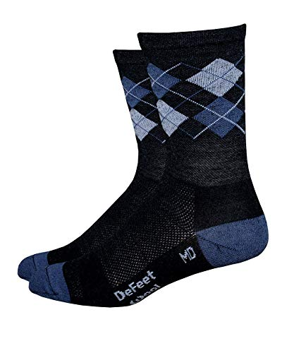 DeFeet International Wooleator 5-Inch Argyle Sock, Grey, Small