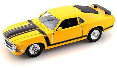 (1970 Ford Mustang Boss 302 Yellow 1:24 Model)