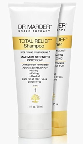 Dr Marder Dermatologist Formulated Anti-Dandruff Shampoo & Zinc Pyrithione Conditioner 1 FL OZ (30 mL) Per Bottle - 2 Pack Travel Set - Stop Hair Loss + Promote Hair Growth - Treat Psoriasis Flakes Scales Extra Gentle Works 3X Better