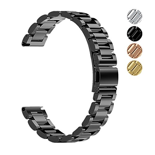 18mm Metal Replacement Universal WatchBand Strap for Zenwatch 2 1.45 / Fossil Q Tailor / Huawei / LG Watch Style/ Withings Activite/ Steel HR 36mm/ Casio Aposon Timex watch Unisex Smart Watch Band