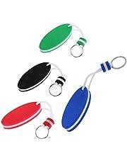 Båt flyta sport nyckel tillbehör flytande nyckelring flytande nyckelring för utomhussport vatten kajak flytande nyckelring för kanot marin nautisk båt simning strand utomhussport 4 delar