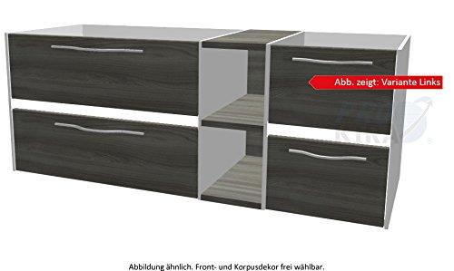 PELIPAL SOLITAIRE 6010 Waschtischunterschrank inkl. LED / WTUSLB 04/05 / Comfort N / 132x51,2x49,3cm