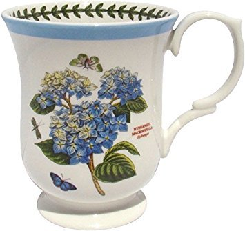 Portmeirion Botanic Garden Terrace Blue Border Hydrangea Mug Porcelain Fine China ()